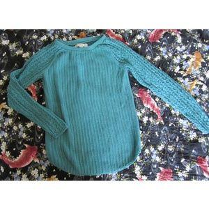 Ann Taylor LOFT Teal Crew neck Sweater